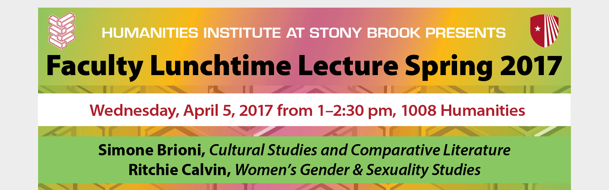 Faculty Lunchtime Lectures Spring 2017