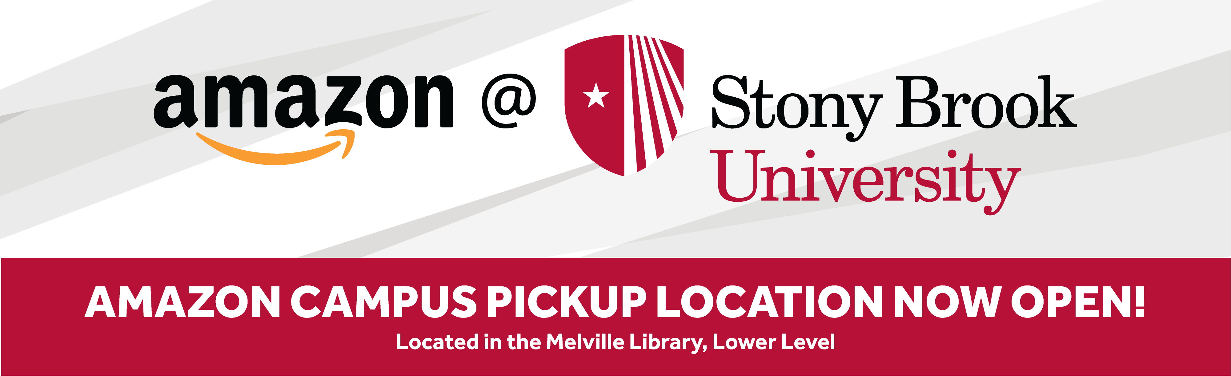 Amazon Campus Pickup Location Now Open! Located in the lower level of the Melville Library