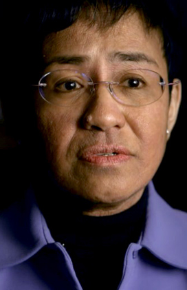 image of Maria Ressa from PBS website