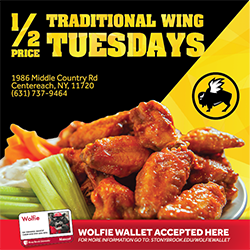 Tuesday's 1/2 Price Traditional Wings