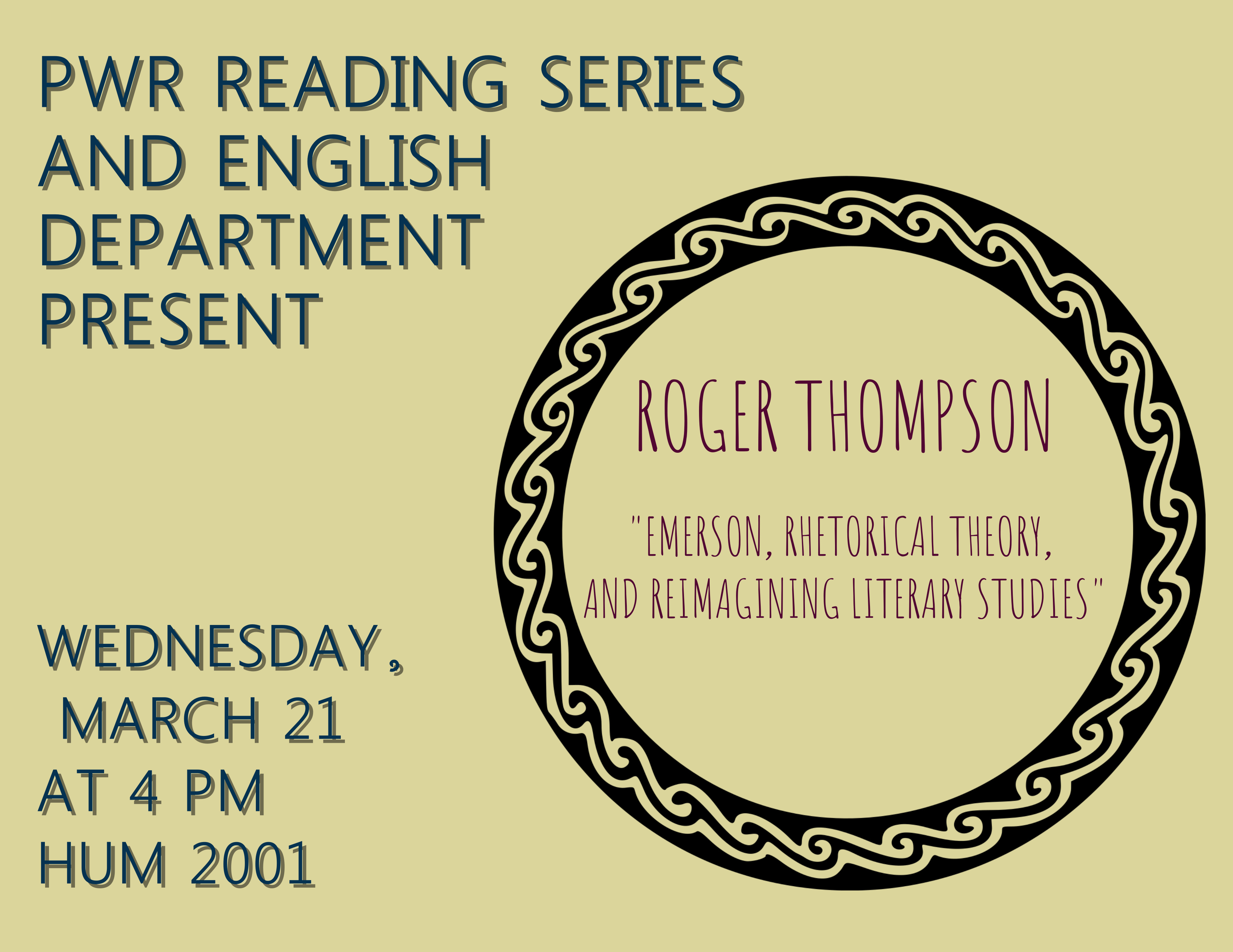 Roger Thompson Event March 21st at 4PM