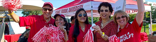 Alumni celebrating at the annual Wolfstock event
