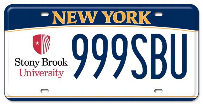 Sample of a Custom SBU Licence Plate