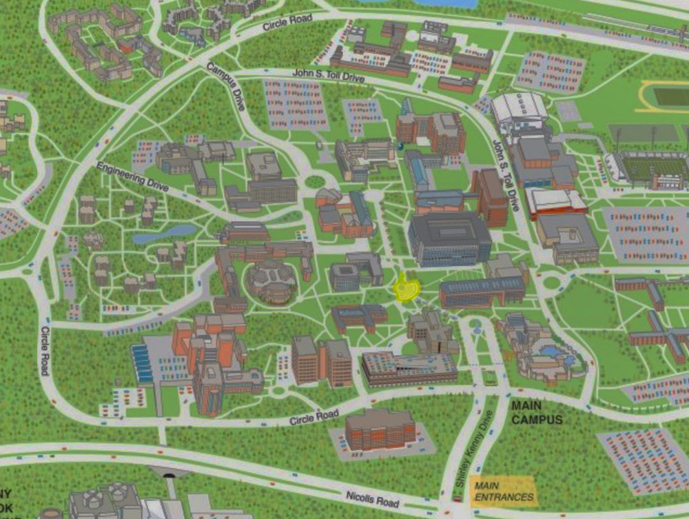 Stony Brook University New York Maps Directions - New york state map with cities
