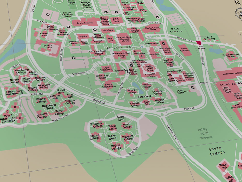 Stony Brook University New York Maps Amp Directions