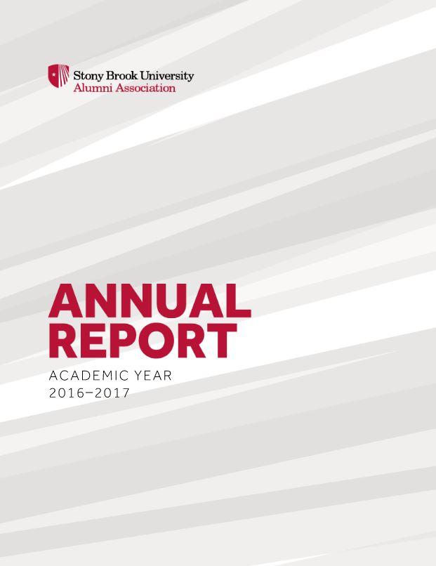 Stony Brook University Alumni Association Annual Report Academic Year 2016-2017