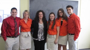 From Left: Greg Camargo, Justine Sarni, Camille Abbruscato, Tara Devlin, Danielle Savarese, and Gennady Balagula