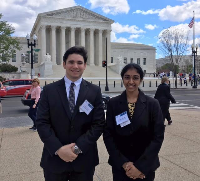 William Tunney and Sandhiya in Washington, DC