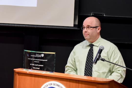 Dr. Anthony Fazio accepting 2016 Distinguished Alumni Award