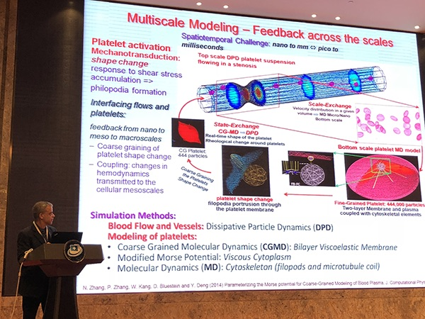 Professor Bluestein presented results of collaborative research conducted using the Jinan Shenwei Supercomputers.