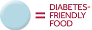 All month long, look for this symbol throughout our cafeteria indicating diabetes-friendly foods. Make choices that can make a difference in your health now and in the future.