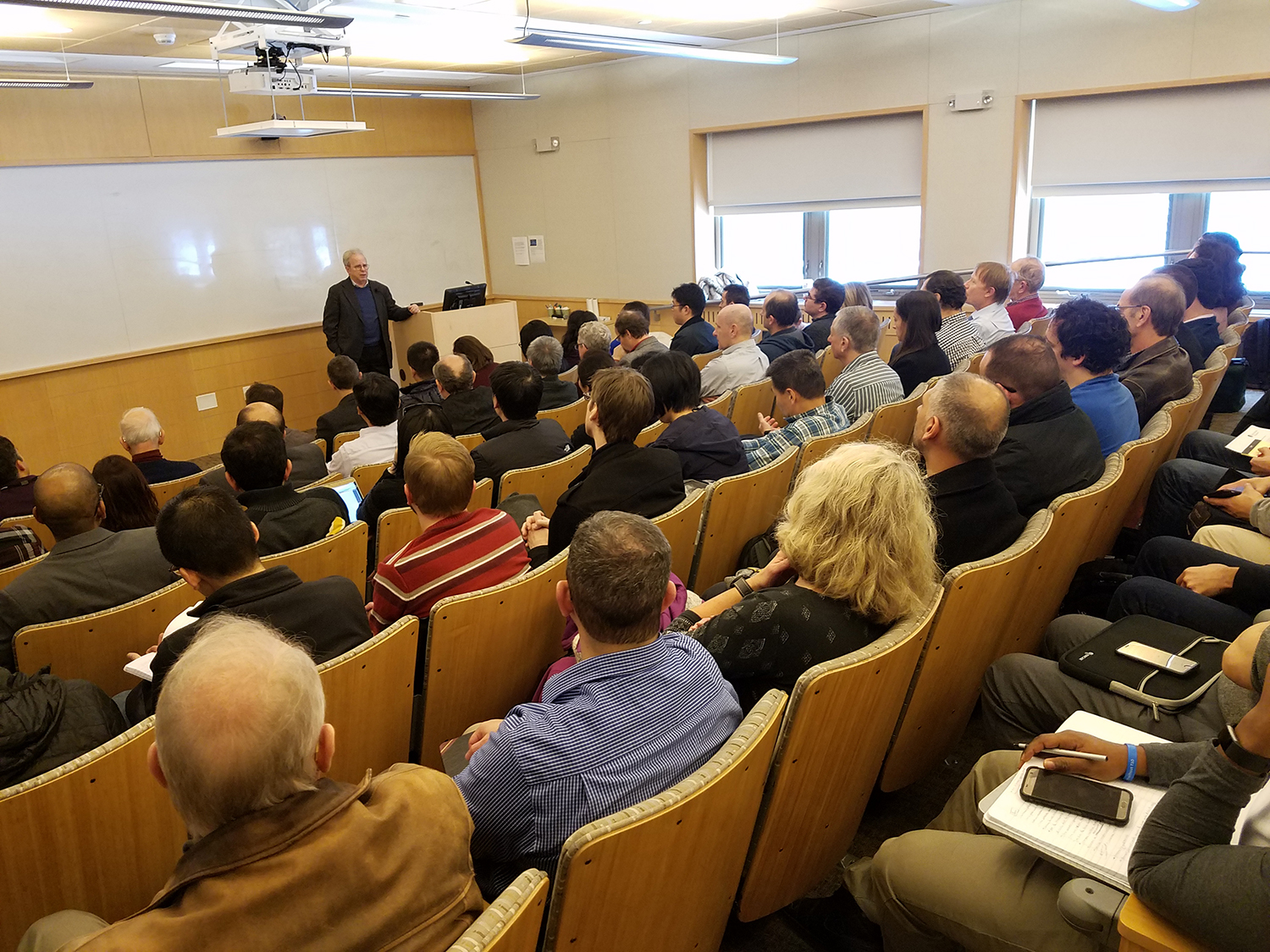 Dr. Staffin addresses the SBU research community during the DOD visit to campus.
