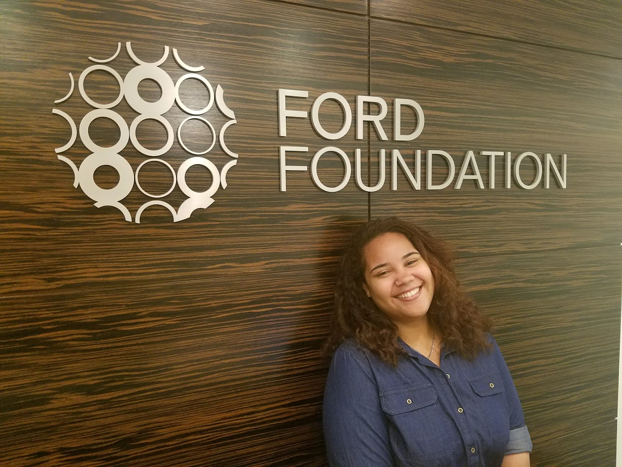 Elianny Moronta Espinal'18, a recipient of the SUNY JFEW scholarship, interned this summer at the Ford Foundation's Office of the President.