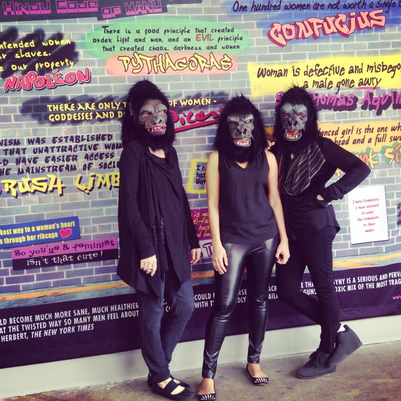 The Guerrilla Girls (photo by Traven Rice)