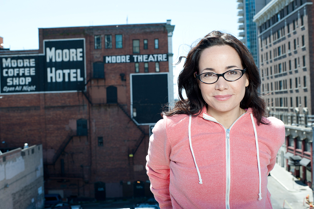 Don't miss comedian Janeane Garofalo at Staller Center on November 5 (photo by Steven Dewall).
