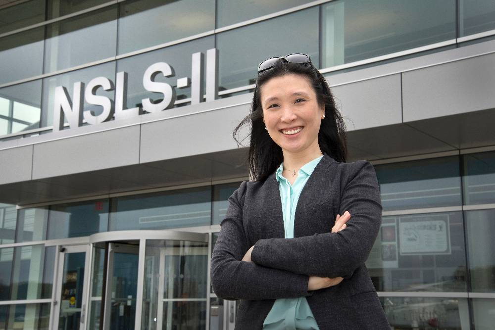 Karen Chen-Wiegart, an assistant professor in the Department of Materials Science and Chemical Engineering (MSCE) in the College of Engineering and Applied Sciences