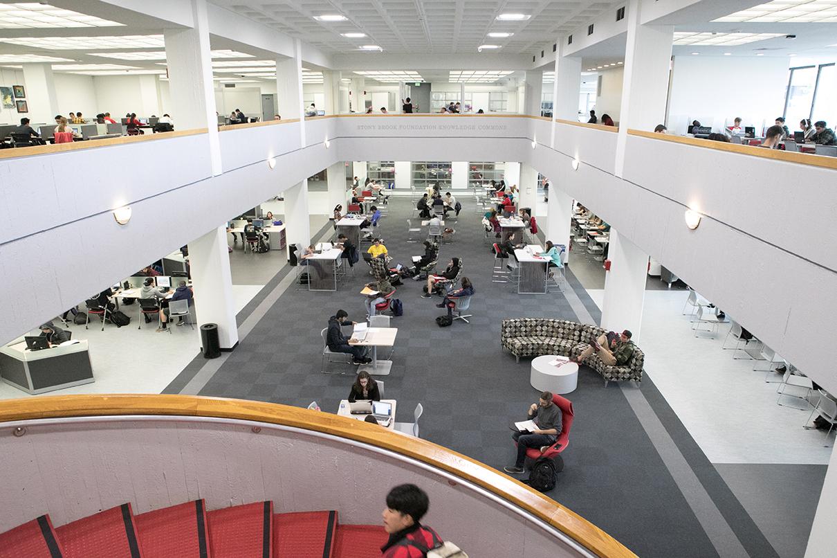 Stony Brook, NY; Stony Brook University: North Reading Room (Stony Brook Foundation Knowledge Commons) in the Melville Library