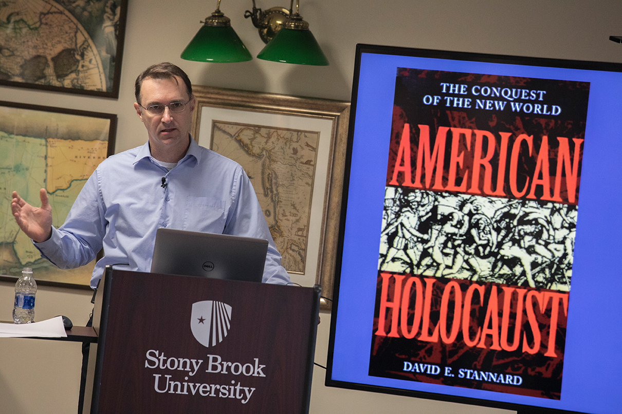 Native American Heritage Month: Germs, Genocides, and America's Indigenous Peoples talk by Paul Kelton, Professor and Gardiner Chair in American History
