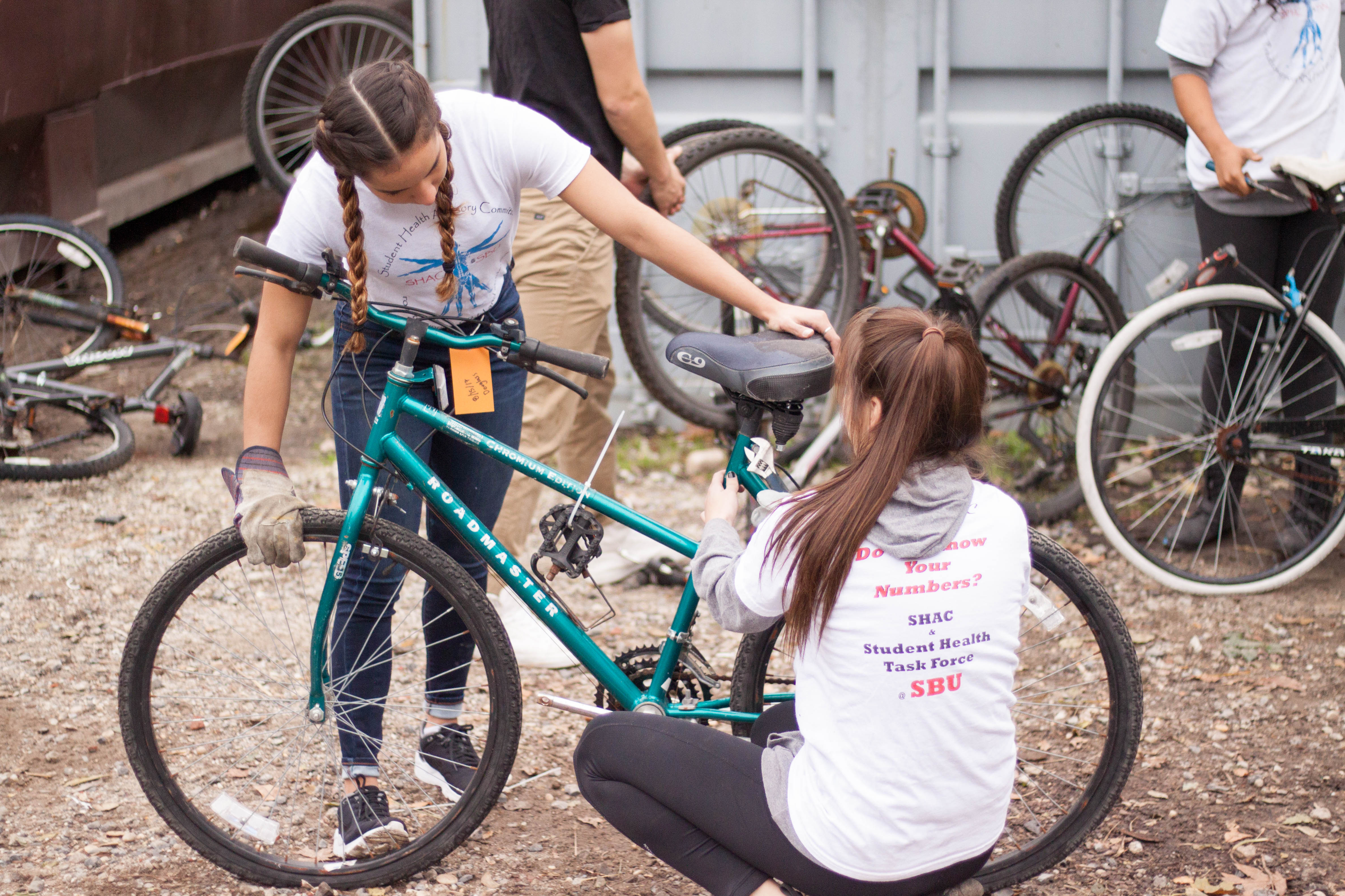 Bikes are collected through Pedals for Progress and donated to developing countries around the world.