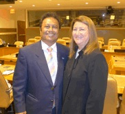 President Remengesau and Ellen Pikitch at the UN.