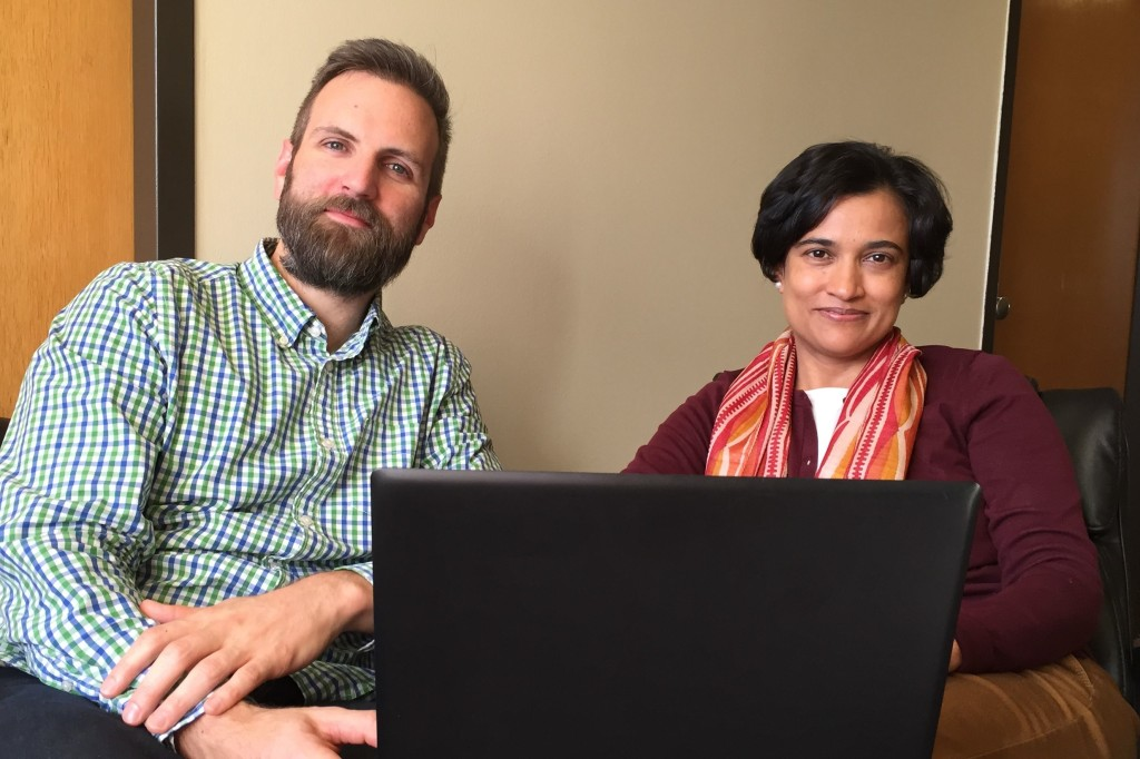Associate Professor Christian Luhmann, Ph.D. and Professor Suparna Rajaram, Ph.D. of Stony Brook University