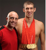 "SB Alumnus' ""Olympic Moment"" Al Bello '89 photographs 8x Gold Medalist Michael Phelps in Beijing"