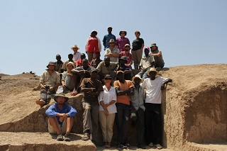 The WTAP team together at the excavation site in Kenya.