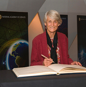 Photo Credit: National Academy of Sciences Meave Leakey, director for field research at TBI, during her induction as a Foreign Associate of the National Academy of Sciences.