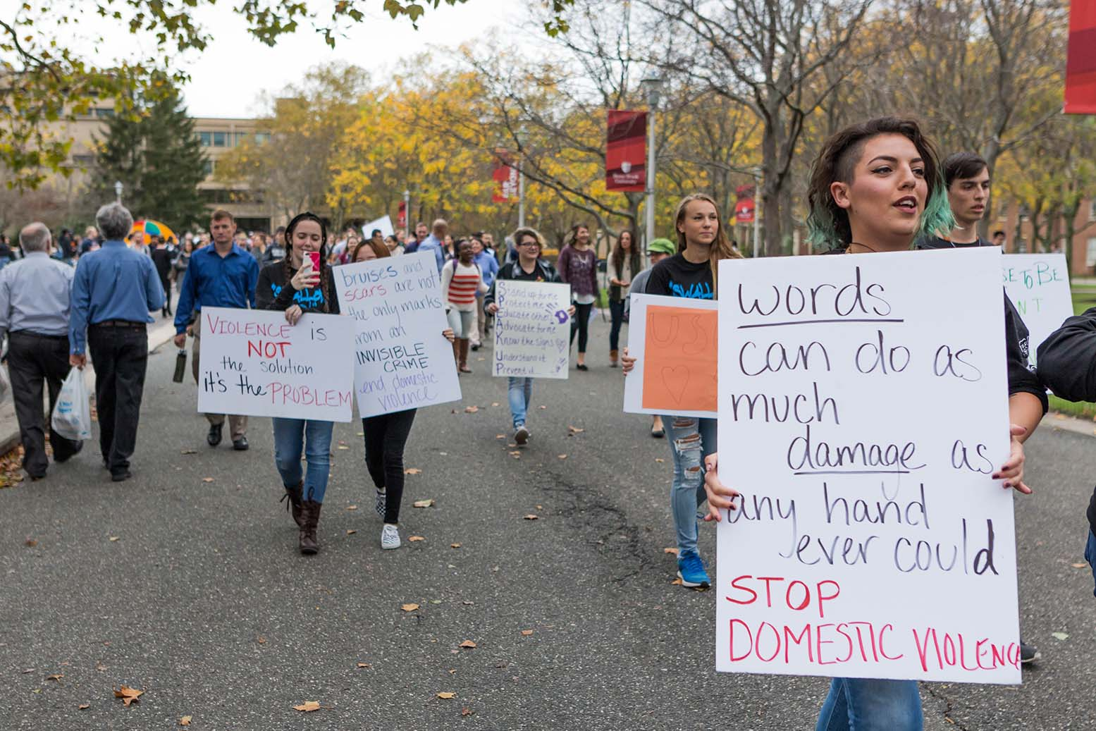 Take a Stand, Walk with Me march against domestic violence