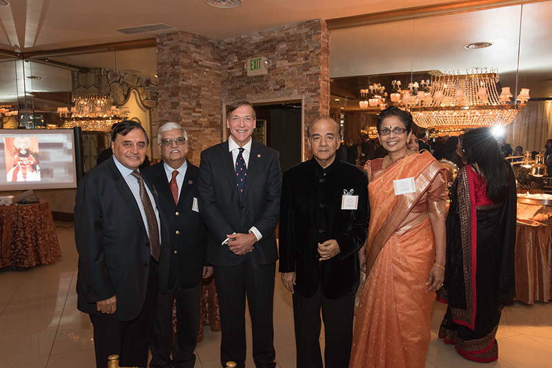 President Samuel L. Stanley Jr. attended the 20th Anniversary Gala of the Bishembarnath and Sheela Mattoo Center for India Studies.