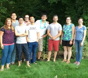 Jason Trelewicz (third from right) and his research group, which contains a mix of doctoral, master's and undergraduate students.