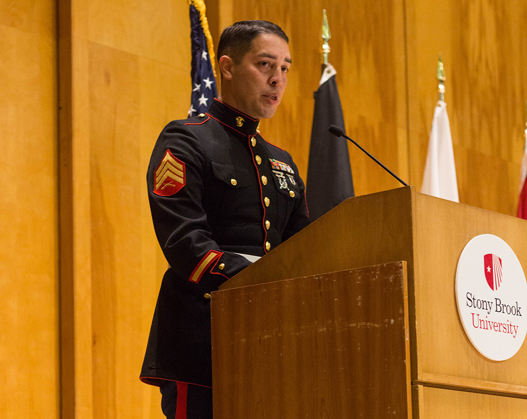 Keynote speaker Osbert Orduña spoke about his experience in the military and how it contributed to his professional success.