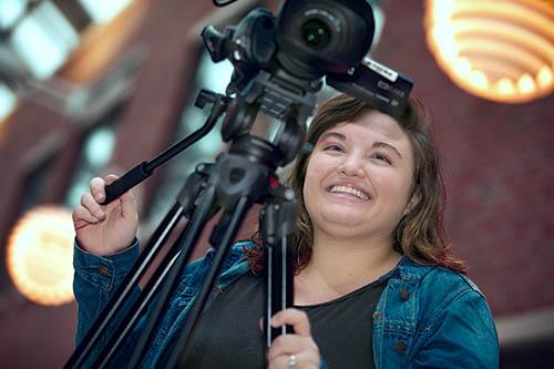 School of Journalism student Abigail Wolfenberger
