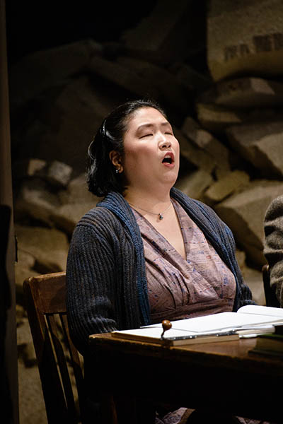 Ju Hyeon Han as the chorus in Britten's Rape of Lucretia