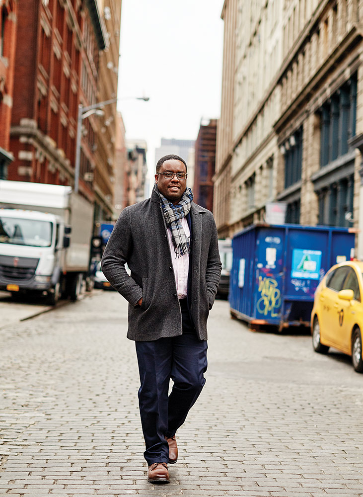 Originally from Haiti, Wesley Francillon earned a bachelor's in engineering science in 2002 and a PhD in materials science and engineering in 2009 and now works at the NYU Materials Research Science and Engineering Center.