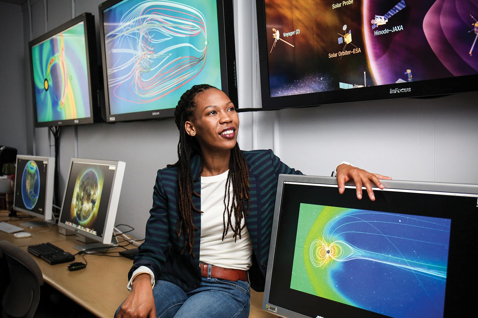 Sabrina Thompson '07 works in the Navigation and Mission Design Branch at NASA Goddard Space Flight Center.