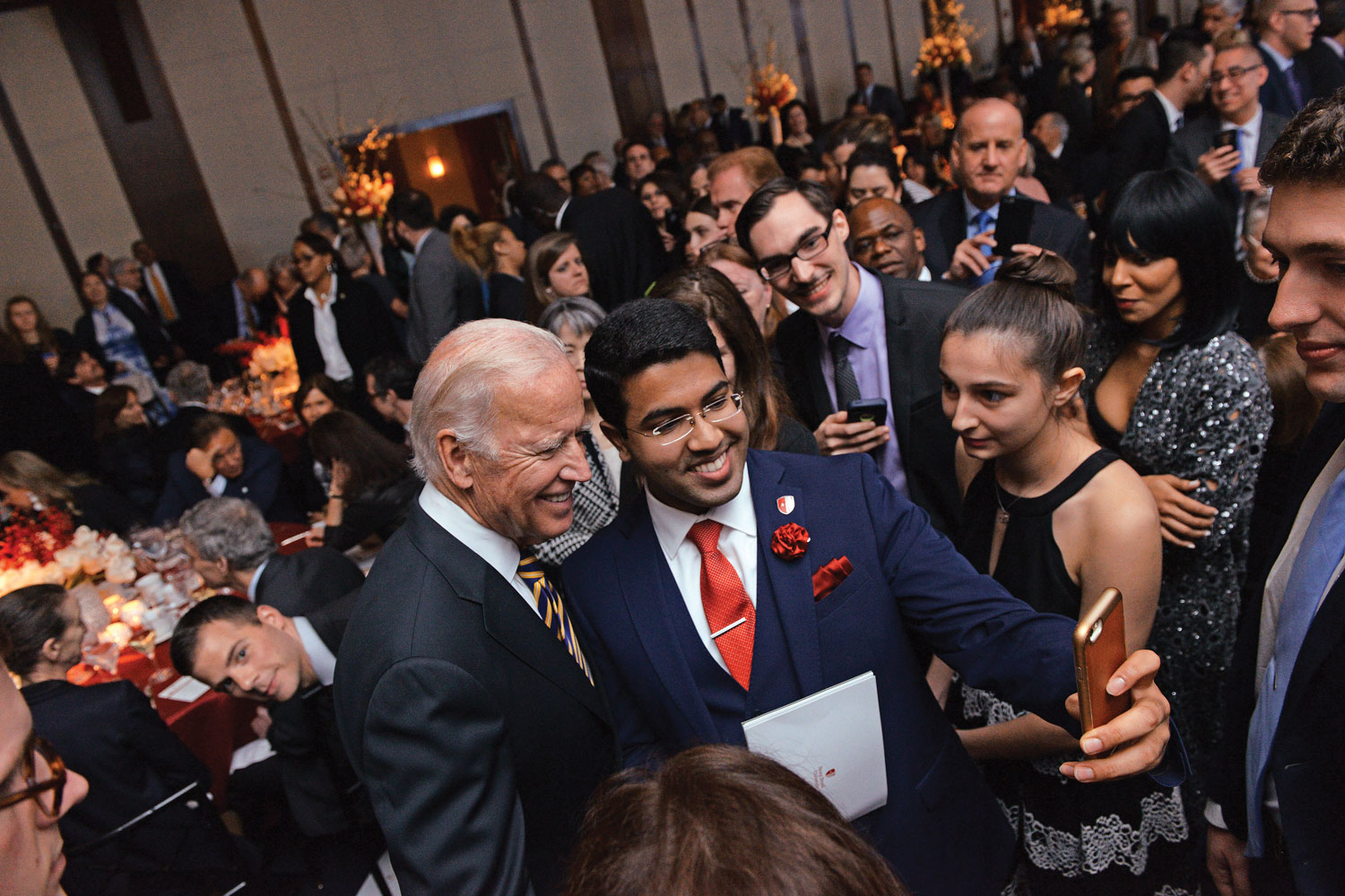 In recognition of his dedication to the fight against cancer, Joseph R. Biden Jr., 47th Vice President of the United States of America, was honored at the Stars of Stony Brook, Stony Brook University's annual fundraising gala at Chelsea Piers in Manhattan on April 19, 2017.
