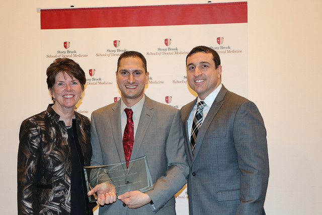 Dean Mary Truhlar, Dr. Jimmy Kilimitzoglou, Dr. John Rose