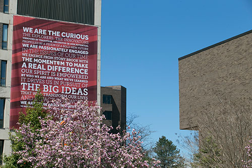 FAR BEYOND theme brightens campus buildings.