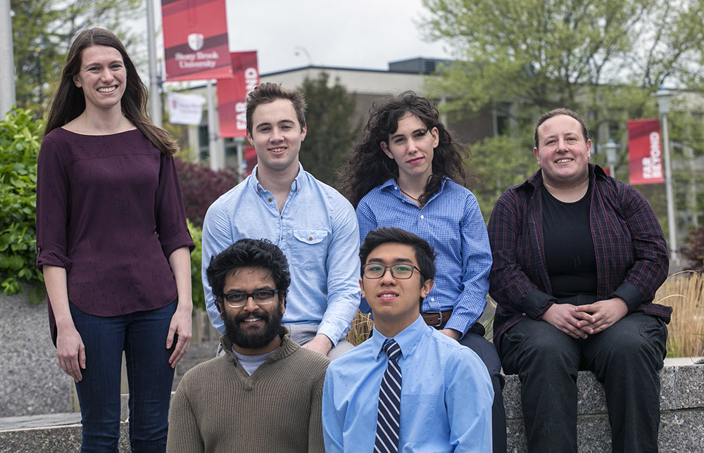 Group photo of Stony Brook students who earned NSF fellowships in 2017.