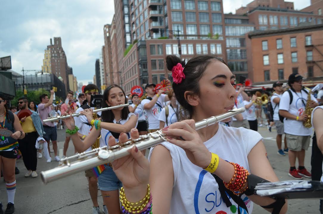 The Stony Brook Marching Band led the the SUNY cohort.