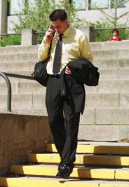 Photo: Business Student on cell phone