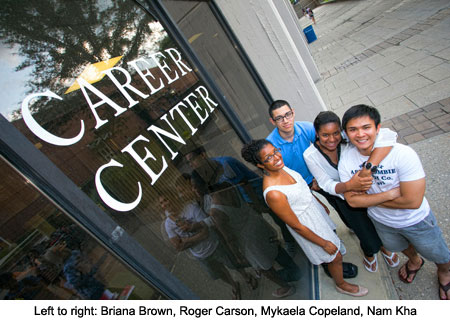 stony brook university features career center teams up with