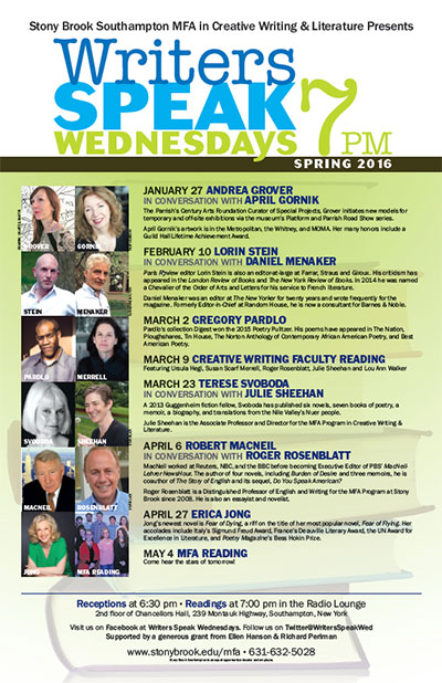 spring writers speak series