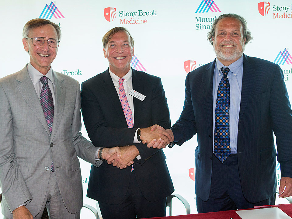Mount Sinai and Stony Brook Sign Affiliation Agreement